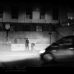 urban perils (Ąиđч) Tags: auto city urban white man motion black andy car night nikon alone traffic action andrea fast andrew headlights uomo solo movimento solitary macchina nero notte città traffico fari veloce azione benedetti d7000 ąиđч bianceo