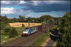 Wettrennen (FNIS) Tags: eisenbahn güterzug br186 186103 railpool nauheim