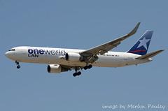 One World LAN 767WL cc-cxj (merlyn.pauley) Tags: madrid madridbarajasairport airport spain lan 767wl boeing oneworld cccxj