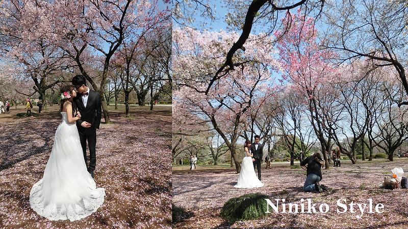 日本,自助,婚紗,海外,簡約浪漫,花圈,頭飾,櫻花,東京