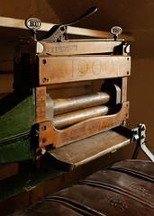 The 1900 Washing Machine (S.R.Murphy) Tags: cannonhall cawthorne washingmachine 1900washingmachine windowlight machine machinery wood metal texture fujix100t stilllife barnsley england householdappliance flickrexplore01072017 inexplore yorkshire