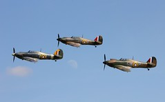 Over The Moon With Three Hurricanes In Flight Together (MedievalRocker) Tags: