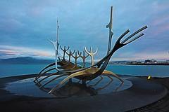 Sólfar - Sun Voyager in Reykjavik (lawlgungaphul) Tags: sólfar sunvoyager iceland reykjavik viking nordic bluewater sculpture sunvoyagericeland