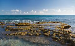 Beach Rocks (Ben_Senior) Tags: simpsonbay water aqua sintmaarten saintmartin sea seascape landscape sunshine clouds cloud bluesky blue orange yellow rocks rock beach dutchcaribbean dutchwestindies caribbean caribbeansea bensenior nikond7100 nikon d7100 travel tourist tourism paradise island