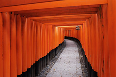 Fushimi Inari Taisha XXXIII (Douguerreotype) Tags: shrine lantern temple kyoto gate architecture red japan vermilion torii