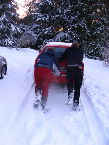 Pousser la voiture