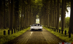 The smooth approach.. (Luuk van Kaathoven) Tags: auto road nature car silver photography spider nikon flickr automotive ferrari explore van approach f430 luuk explored d80 luukvankaathovennl kaathoven