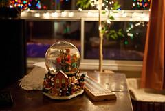 Christmas ball 2 (MichelGamache) Tags: christmas lights bokeh crystalball