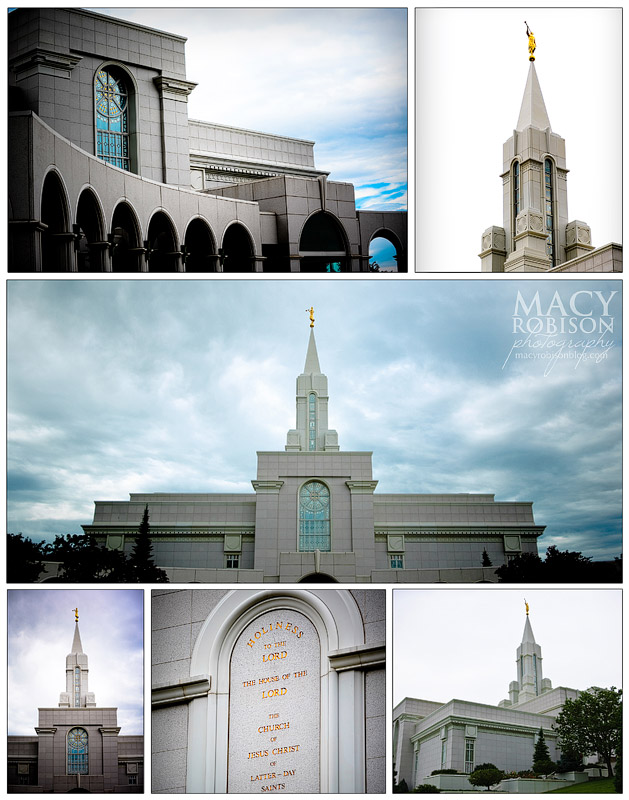 Bountiful Utah LDS Temple collage