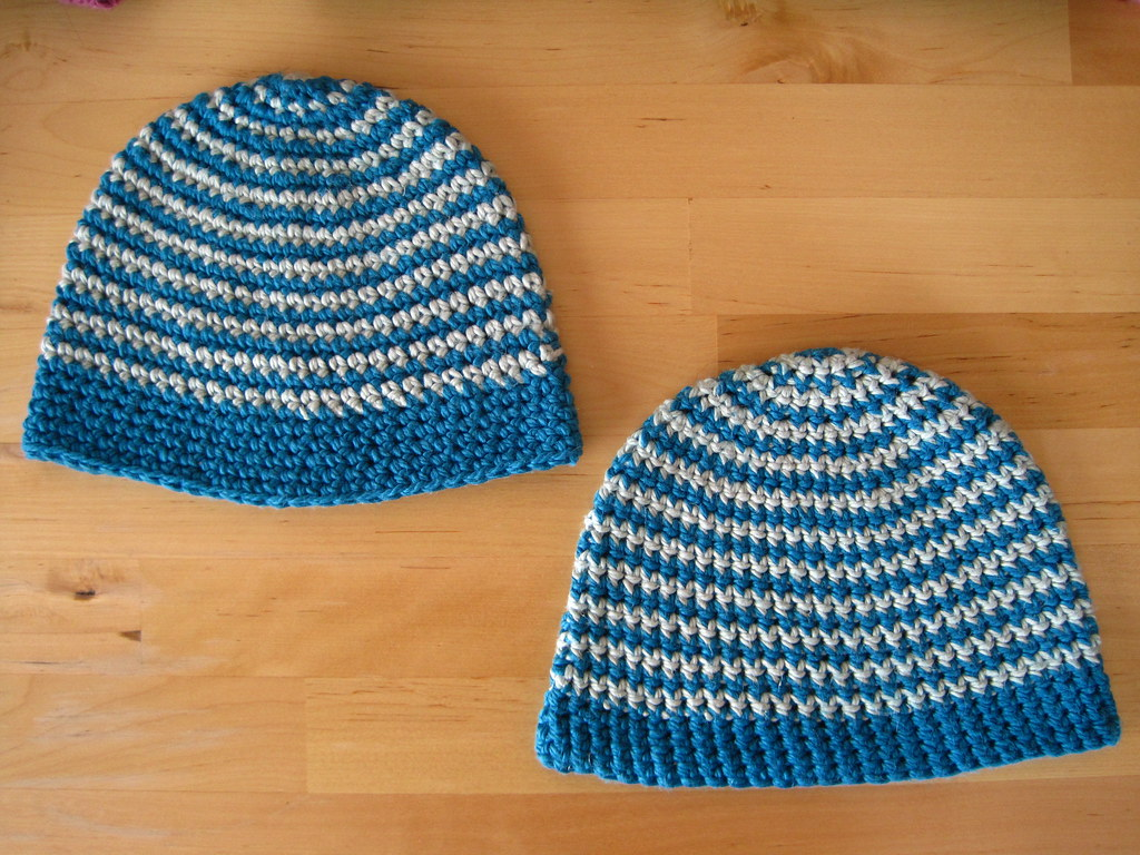 Two little hats for two little boys