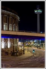 (Brian Sayle) Tags: road street city longexposure nightphotography light england lightpainting night liverpool canon dark painting 50mm lowlight long exposure darkness nightshot centre nighttime ef50mmf18ii citycentre flyover merseyside stjohnsbeacon 400d canon400d liverpoolcitycentre