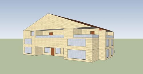 Primul model de casă făcut de Daniel Filat