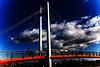 Crossing // Cruzando (pasotraspaso. Jesus Solana Fine Art Photography) Tags: bridge blue red sky azul clouds puente photography spain rojo nikon europe crossing cross photos cielo nubes cruzar nikond80 pasotraspaso jesussolana