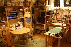 CLEAN Studio: Beads, fiber and book art stuff (Terry.Tyson) Tags: art studio craft etchingpress