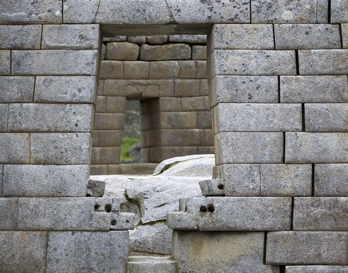 Through a Inca doorway onto the Sun Temple.