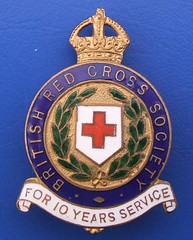 British Red Cross 10-year service badge (pre-1953) (RETRO STU) Tags: brc 1870 britishredcross enamelbadge 10yearsservice masandford awardbadge