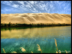 Gaberoun Oasis Lake ! (Bashar Shglila) Tags: world blue camping lake sahara water beautiful swimming landscape gold landscapes sand desert most oasis libya wadi   libyen oan    gabr lbia  topseven libi  libiya alhaya platinumphoto superaplus aplusphoto awbari liviya libija theunforgettablepictures  bentaher   gaberoun  awhn  thepowerofnow   lbija  lby libja lbya liiba livi