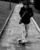 Hacia ningún lugar si es en tu compañia (iker serrano) Tags: parque blackandwhite blancoynegro canon 50mm camino wb bn perro paseo cruces barakaldo 50mm18 ary shintzu 450d navidad2009 ikerserrano