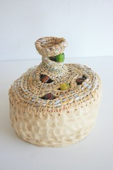 coiled structure (Arbel Egger) Tags: glass ceramic beads basket plasticbags coiling