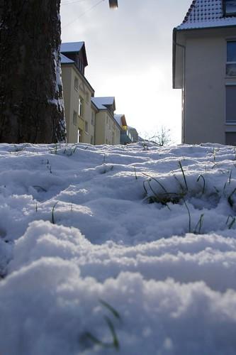 Schneeauftürmung