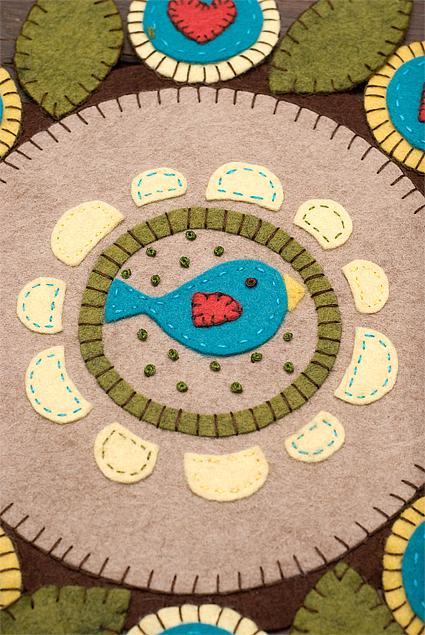 felt article penny rug 5