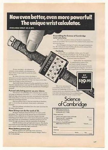 Calculadora de muñeca (1967)