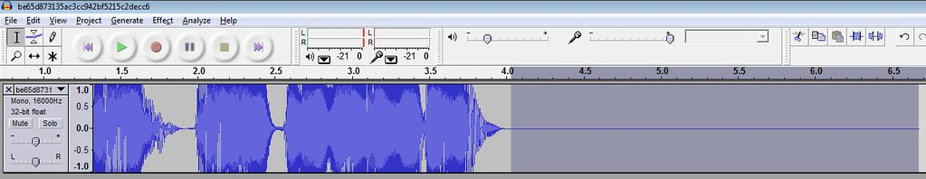 how to make audacity sound clear
