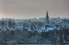View from my office (sublyro) Tags: winter snow holland netherlands amsterdam geotagged view officeview hdr 2010 canalhouses geo:lon=4905428 geo:lat=52373896