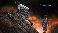 Climbing the Hardship (Mortuza Alam) Tags: men canon action smoke climbing bangladesh brickfield barisal flickraward 55250mm flickrunitedaward