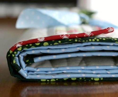 For Natalie, Christmas table runner + napkins