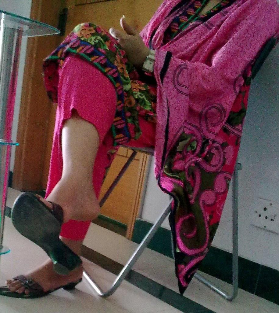 Afraid, that Indian aunty feet pity, that