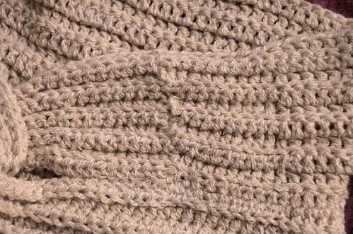 Knotty Wrap, seam detail