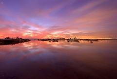 Sunset @ Hamala,Bahrain (©Helminadia Ranford) Tags: longexposure sunset sky seascape reflection nature beautiful skyscape landscape photography yahoo bahrain google colours magic arab arabia passion hahahaha gcc helminadia hamala ubudgallery