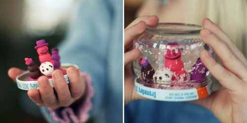 she made a snow globe