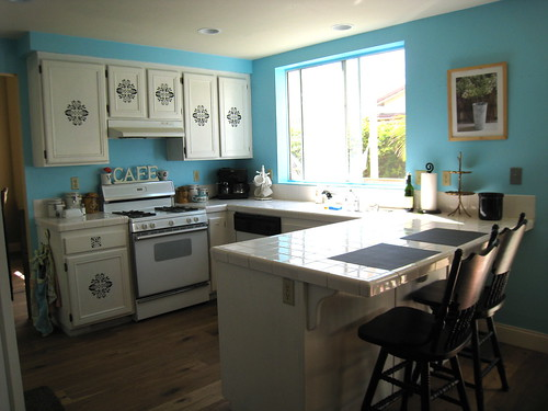 Blue Color Kitchen