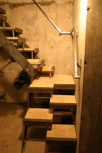 mechanical room stairs view 2