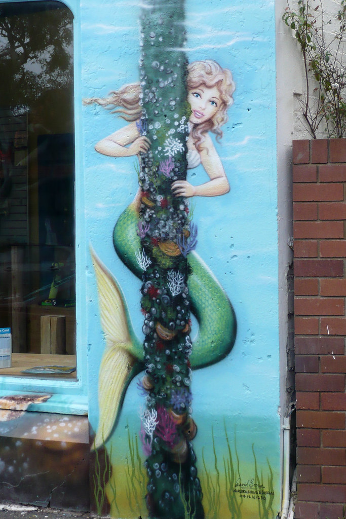 Airbrushed mermaid by David Brown