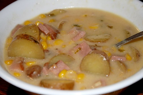 """Hearty Ham Casserole"" soup"