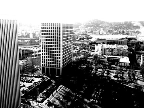 Lloyd district in black and white