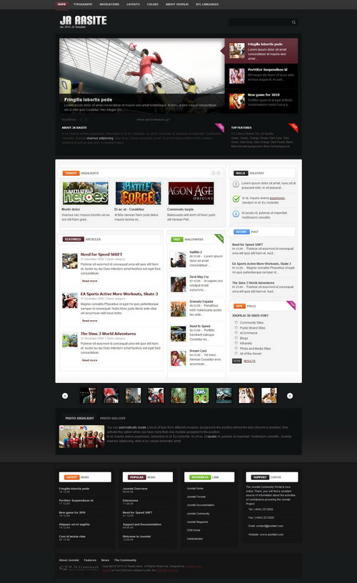 JA Rasite – January 2010 Joomlart Template