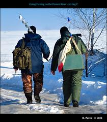 Going Fishing on Frozen River -20 deg C (episa) Tags: winter cold river frozen fishing fishermen january ukraine kiev 2009 dniepr 20degreesc nikond700 nikond700kiev20degreescwinterjanuary2009