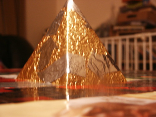 Close up of the pyramid