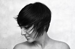 We move with the flow (piotr.pedziszewski) Tags: portrait bw girl beauty hair naked flow girlfriend move shoulders kaya yasemin bebek polishhaircut