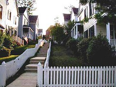 pathway in smart growth neighborhood (via Livable Streets StreetsWiki)