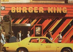 1970s NYC vintage BURGER KING Yellow Taxi Cab NEW YORK CITY 5th Avenue (Christian Montone) Tags: nyc yellowcab 5thavenue burgerking 1970s taxicab vintagenewyorkcity vintagenyc