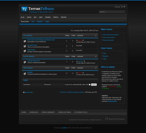 TerranTribune Dark – RocketTheme phpBB3 Style