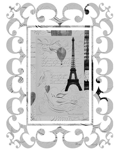 Eifel Tower French Flourishing