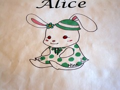 cafe alice - logo by foodiebuddha