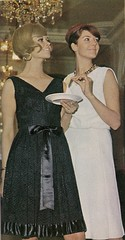 Black And White Christmas (glen.h) Tags: fashion vintage women 60s parties clothes 1960s magazines sixties advertisments familycircle