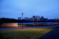 the view (hiscozzese) Tags: park dc dusk georgetown rosslyn
